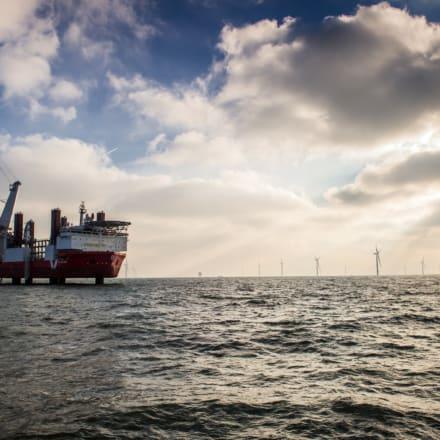 wind turbine installation at sea