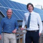 L-R Mark Watling, Moor Energy and Graham Waddell, Bicton EaRTH