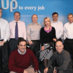 The team from Uponor undertaking the Snowdon challenge