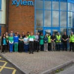 Xylem Lowara UK staff wear green and blue in honour of Earth Day 2013
