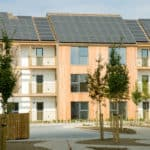 Quality street: Sinclair Meadows, Tyneside, has become the first carbon negative social housing development in the UK by incorporating a commercial-sized PV array