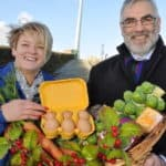 Simple Power chief executive Philip Rainey pictured with Melissa Wylie from Rural Support, as they launch the charities first ever 'Christmas Hamper Scheme'