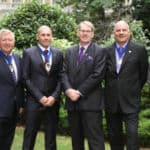 The presidential team of B&ES for 2014/15 consists of: (l-r): Jim Marner, president elect; Andy Sneyd, president; Roderick Pettigrew, chief executive; Malcolm Thomson, vice president