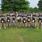 Jay Guadagni, Branch Supervisor at PTS and his team of cyclists