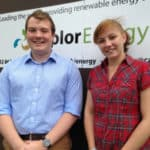 Ben Quinn (25) and Lisa Hardman (20) look forward to a career in sustainable energy