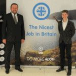 Luke Cameron and William Campbell, commercial director of UA