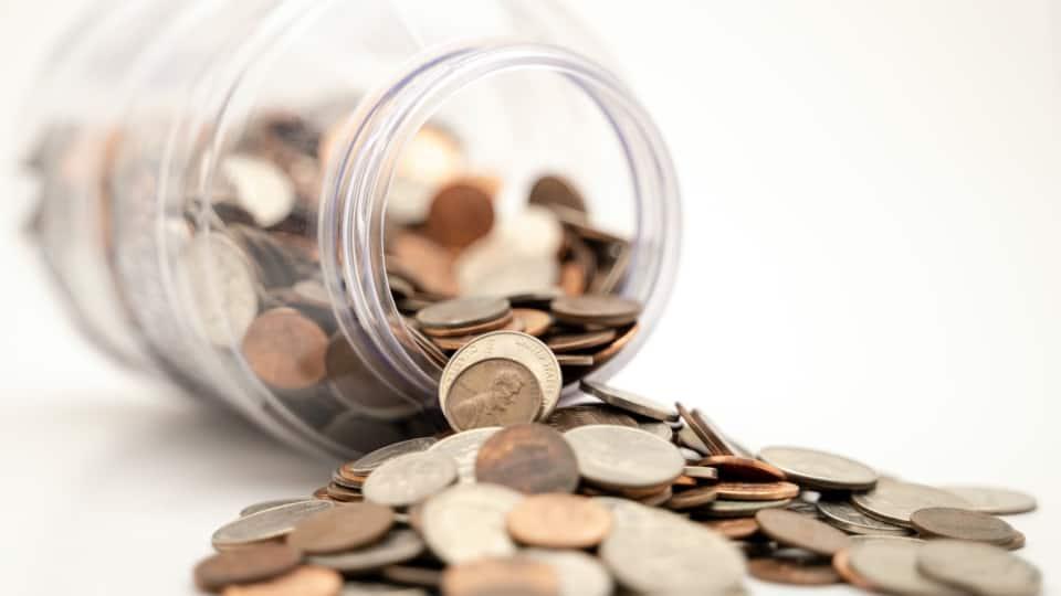 Pot of coins