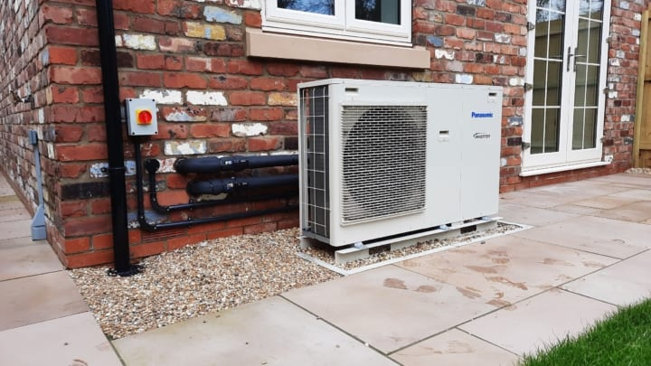 Panasonic air source heat pump