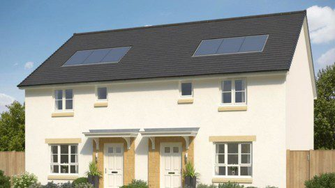 Barratt homes new development solar PV